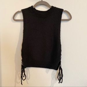 Urban Outfitters turtleneck tank with side tie
